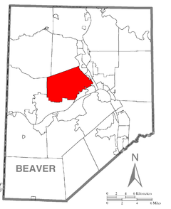 Map of Brighton Township, Beaver County, Pennsylvania Highlighted.png