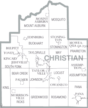 Christian County, Illinois - Map of Christian County, Illinois