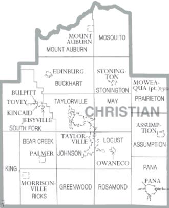 Christian County, Illinois - Map of Christian County, Illinois