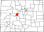 Map of Colorado highlighting Lake County.svg