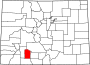 Map of Colorado highlighting Mineral County.svg