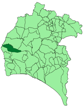 Map of El Almendro (Huelva).png