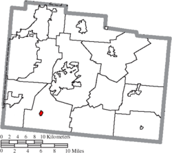 Location of Spring Valley in Greene County