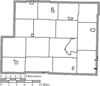 Harrisville, Ohio - Image: Map of Harrison County Ohio Highlighting Harrisville Village