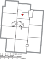 Map of Jackson County Ohio Highlighting Coalton Village.png