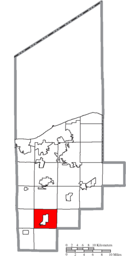 Location of Wellington Township in Lorain County