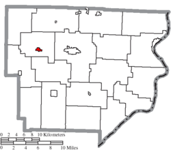 Location of Lewisville in Monroe County
