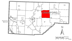 Location of Richmond Township in Crawford County