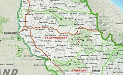 Map of Savannakhet Province