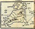 Map of Sicily according to Ptolemy - Bordone Benedetto - 1547.jpg