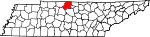 State map highlighting Sumner County