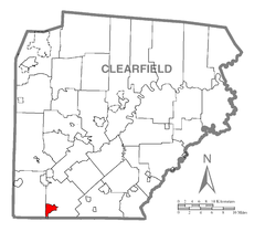 Map of Westover, Clearfield County, Pennsylvania Highlighted.png