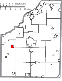 Location of Weston in Wood County