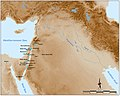 Map of the Levantine sites with Helwan points.jpg