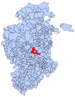 Municipal location of Ibeas de Juarros in Burgos province
