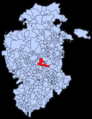 Ibeas de Juarros - Image: Mapa municipal Ibeas de Juarros