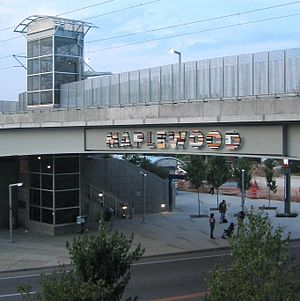 Maplewood–Manchester station - Image: Maplewood Manchester Metro Link station