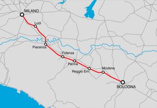 Milan–Bologna railway