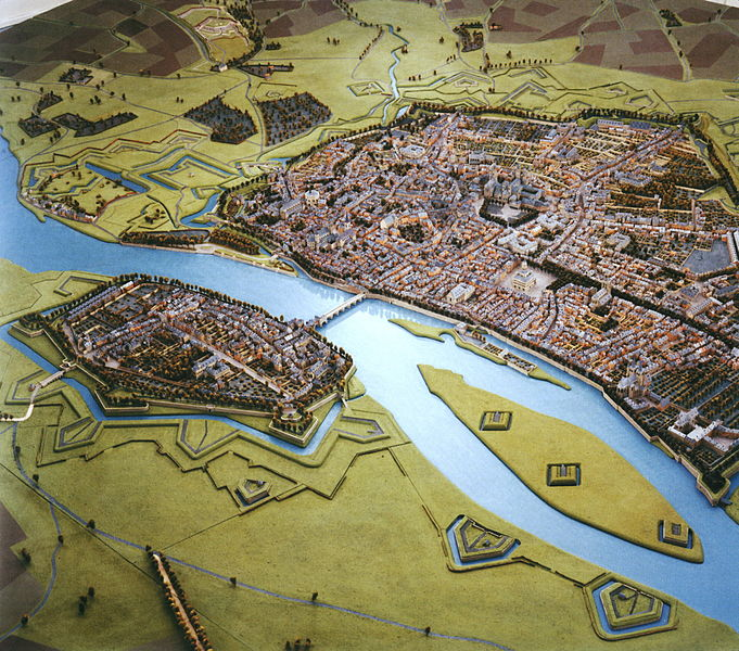 Maquette of Maastricht in 1750