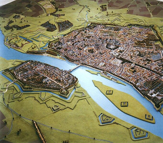 Maquette of Maastricht in 1750