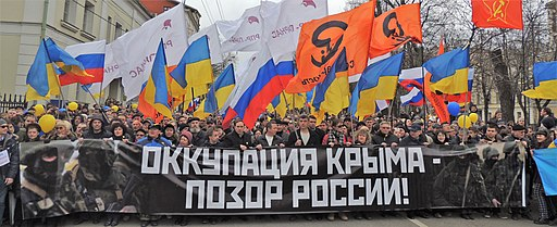 March of Peace (2014-03-15, Moscow), occupation of the Crimea is a shame of Russia