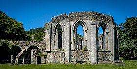 Margam Abbey ruin chapter house.jpg