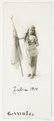Margit von Geijer som Svea, stående med utslaget hår, 1914 - Hallwylska museet - 107983.tif