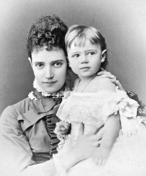Grand Duchess Xenia Alexandrovna of Russia - Xenia with her mother, 1878
