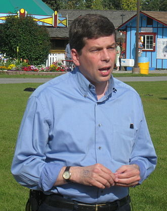 Mark Begich - Begich campaigning at Pioneer Park in Fairbanks in September 2008.