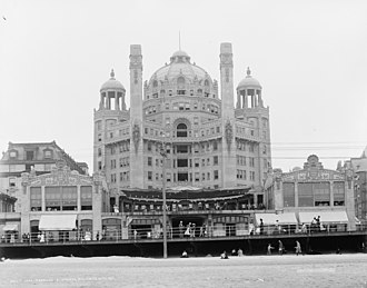 Atlantic City, New Jersey - Blenheim part of the Marlborough-Blenheim Hotel from the beach