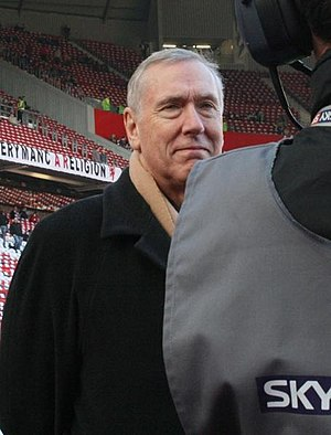 ITV pitchside reporter Martin Tyler informed Scotland captain Willie Miller about Stein's collapse during a post-match interview. Martin Tyler.jpg