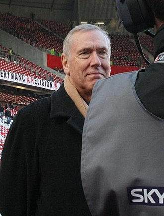 Martin Tyler - Tyler before a match at Old Trafford in 2008