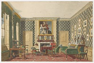 Mary Ellen Best - An Interior, a drawing by  Best, c.1837–1840