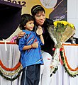 Mary Kom with young sportsperson.jpg