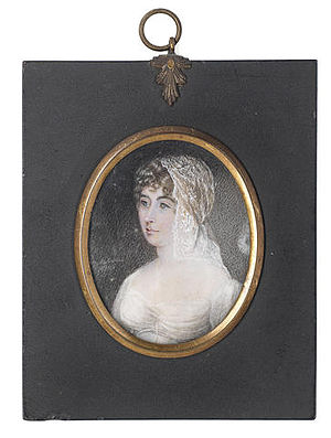 Samuel Taylor Coleridge - Mary Matilda Betham, Sara Coleridge (Mrs. Samuel Taylor Coleridge), Portrait miniature, 1809