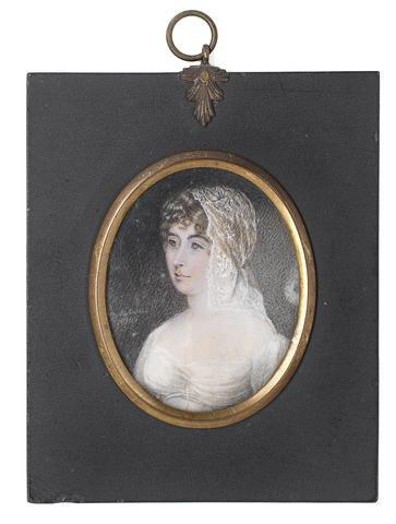 Mary Matilda Betham, Sara Coleridge (Mrs. Samuel Taylor), Portrait miniature,1809