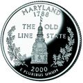 Maryland quarter, reverse side, 2000.png