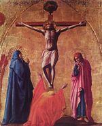 Crucifixion  , panneau supérieur polyptyque de PiseMusée Capodimonte de Naples