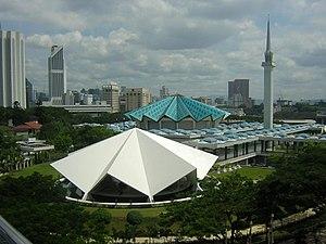 Islam in Malaysia - National Mosque of Malaysia in Kuala Lumpur.