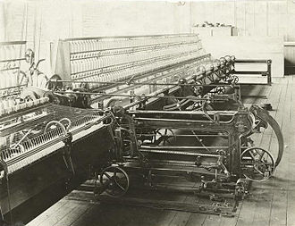 Mason Machine Works - A Mason self-acting mule, ca.1898