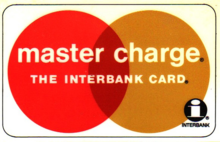 Master Charge logo used from 1969 to 1979, featuring the original Interbank logo of 1966