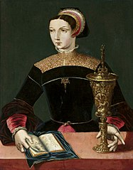 Mary Magdalene with a chalice and a book