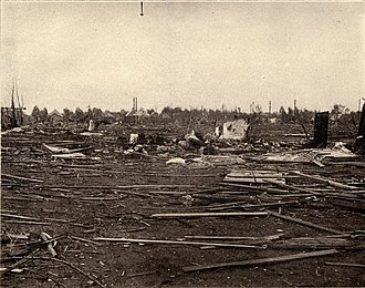 Mattoon, Illinois - 1917 tornado damage in Mattoon