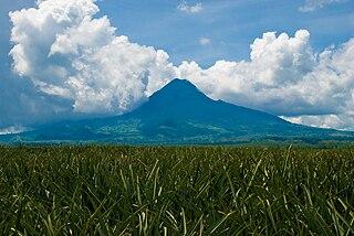 Mount Matutum active volcano in South Cotabato, Philippines
