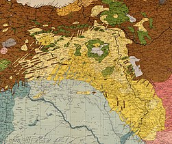 Maunsell's map, Pre-World War I British Ethnographical Map of eastern Turkey in Asia, Syria and western Persia 01 (detail of Kurdistan).jpg