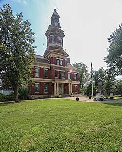 Graves County Courthouse and Confederate monument