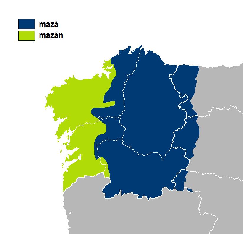Mazán-mazá idioma gallego