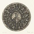 Medaillon met buste van de Kapitein van Dwaasheid, Theodor de Bry, ca. 1577 - ca. 1578.jpg