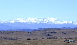 Medicine Bow Mountains seen from U.S. Highway 287 in northern Colorado
