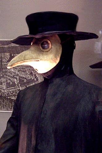 Plague doctor costume - Plague doctor costume from Germany (17th century).